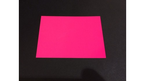 22575 - Pink Day Glo Card