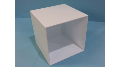 AC5200W - White Acrylic Display Cube - 20cm