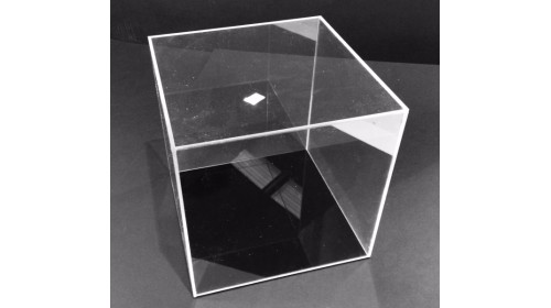 ADC20B - Clear Acrylic Display Cube with Black Base