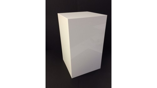 APO50W - White Acrylic Display Pedestal 50cm