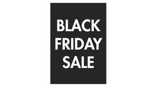BF001 - Black Friday A4 Sale Card