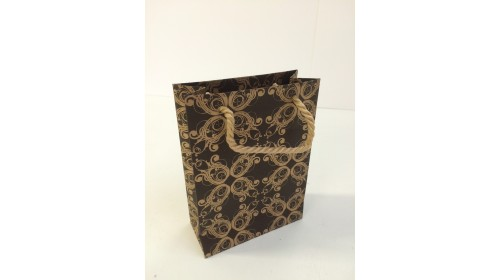 BSBR - Baroque Small Bag - Brown/Gold x 100