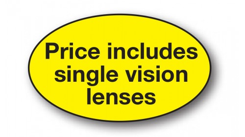 CL101 - Price includes single vision lenses, black on yellow
