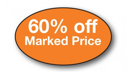 CL39 - 60% off Marked Price, white on orange