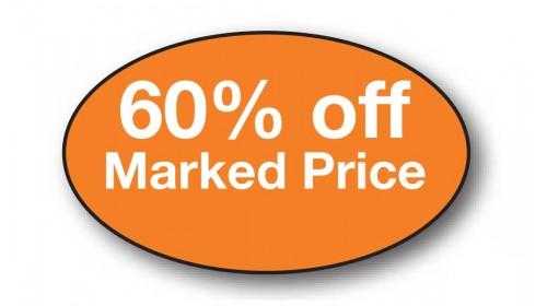 CL39 - 60% off Marked Price, white on orange