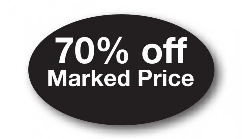 CL40 - 70% off Marked Price, white on black
