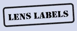 Opticians' Dummy Lens Labels