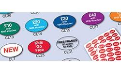 Opticians' Labels