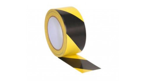 BE002V Black & Yellow Floor Tape