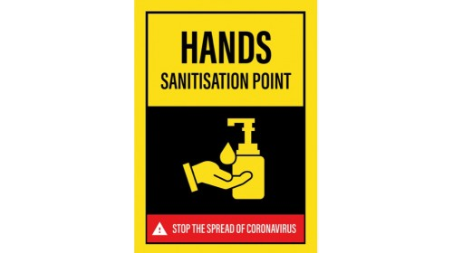BE010E SP4SA Hands Sanitisation Point Sticker