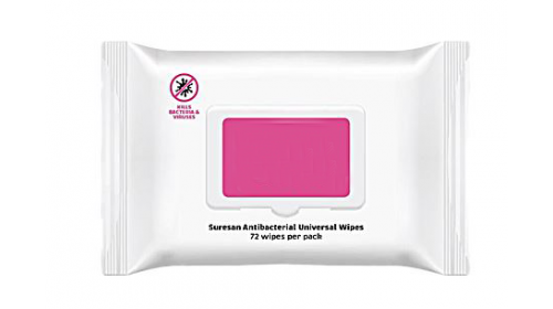 BE13465 Anti-Bacterial Universal Wipes