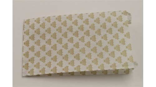 GB1130 Gold Diamond Patterned Paper Bag 100 x 185mm