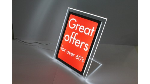 A4BL08 - A4 Back Lit Poster - Great Offers For Over 60's