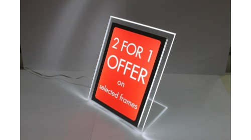 A4BL03 - A4 Back Lit Poster - 2 for 1 Offer