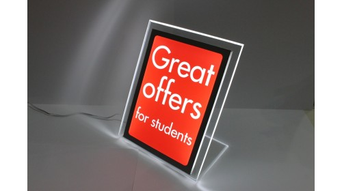A4BL07 - A4 Back Lit Poster - Great Offers For Students