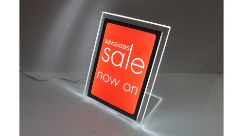 A4BL05 - A4 Back Lit Poster - Sunglasses Sale