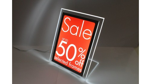 A4BL01 - A4 Back Lit Poster - Up to 50% off Selected Frames