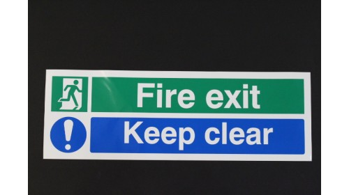 SR71733 Fire Exit Keep Clear Sign
