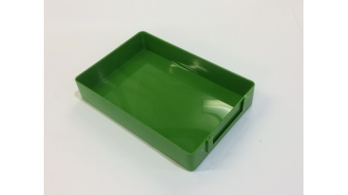 JT005/14 - Green Stackable Job Trays - Case of 14 to clear