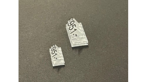 19309/19609 - Mini Lumina Price Cubes. Set of 260 or 640 - 4 x 9mm