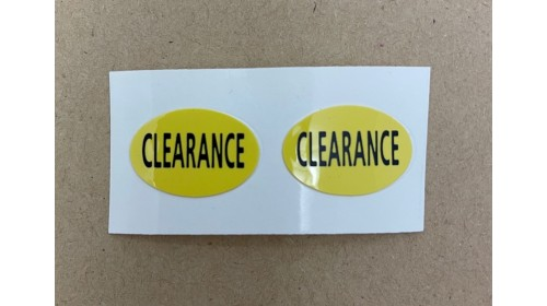 P136C Clearance Self Cling Label