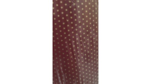 8425/C Giftwrap Roll: Burgundy with gold stars