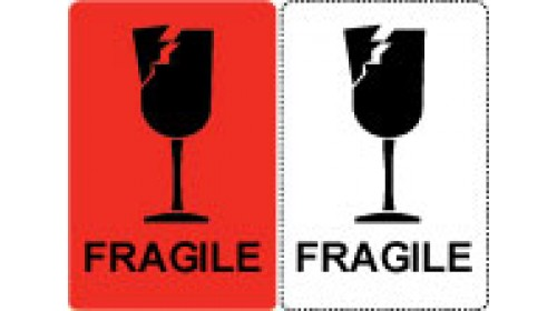 Fragile Shipping Labels 100mm x 150mm