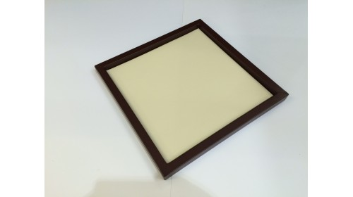 TRA002 - Luxury Faux Leather Brown & Beige Tray