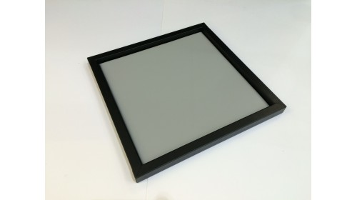 TRA003 - Luxury Faux Leather Black & Grey Tray