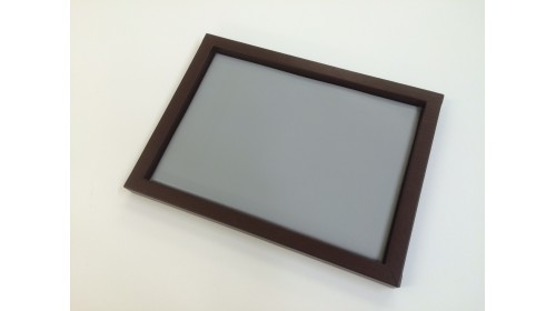TRA004 - Luxury Faux Leather Brown & Grey Tray