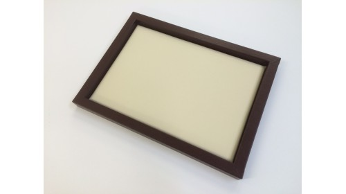 TRA006 - Luxury Synthetic Leather Brown & Beige Tray