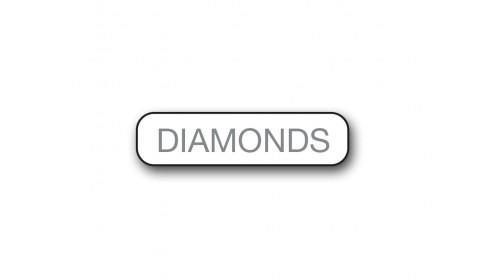 CM002 Diamonds - Foiled Strip of 20 Tickets