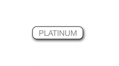 CM014 Platinum - Foiled Strip of 20 Tickets