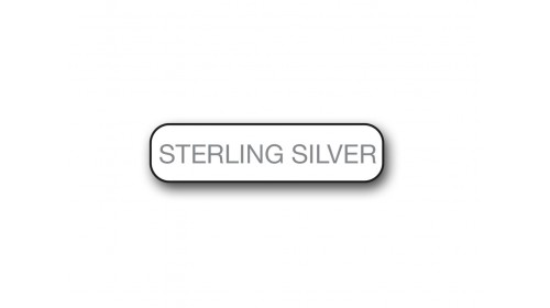 CM015 Sterling Silver - Foiled Strip of 20 Tickets
