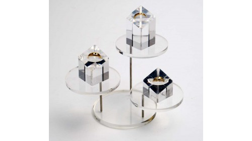 88537 Tiered Stand - Medium Clear