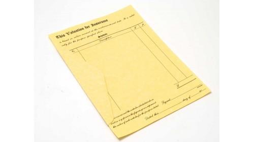 10027 Parchment Valuation Forms with Envelopes. A4