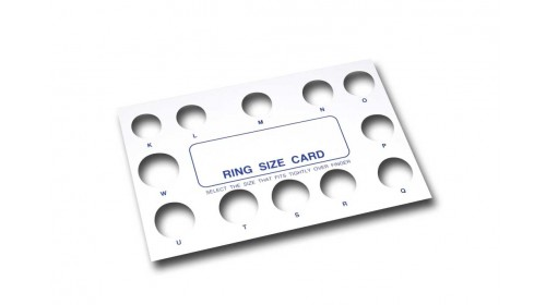 CRG Ring Size Card