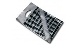 3336 - Carrier Bags, silver and black 370x465mm