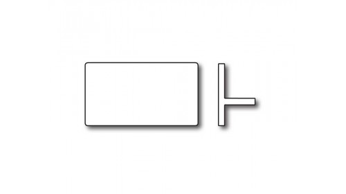 MC21 Price Ticket Carrier - White 21 x 11mm