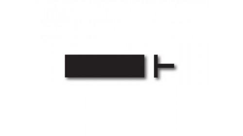 RP21 Price Ticket Carrier Plug In - Black