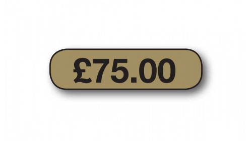 Style 4 S4BG Black on Gold Price Ticket