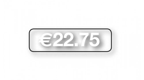 Style 3 TP3CW White on Clear Price Ticket