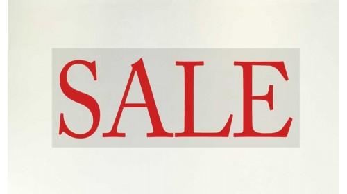 77745 Sale Banner - 'SALE' Red Lettering