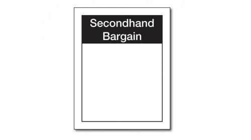WSL8 Secondhand Bargain Ticket 37 x 47mm