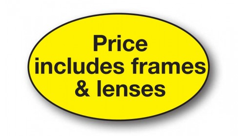 CL122 - Price includes frames & lenses, black on yellow.