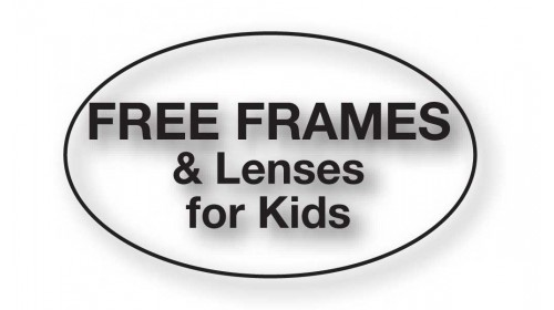 CL31 - FREE FRAMES & Lenses for Kids, black on clear.