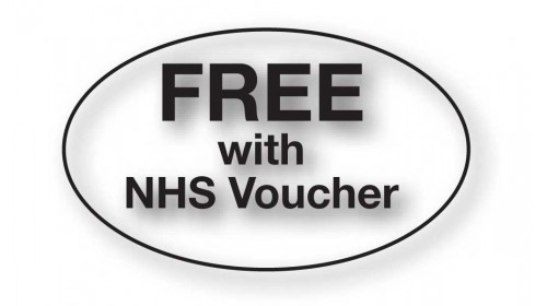 CL32 - FREE with NHS Voucher, black on clear.