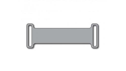SO812  Silver Slip-on plastic frame tag x 460