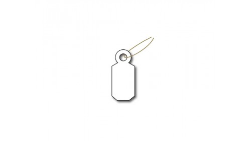 32CW Wired Ticket - White Card 9x19mm