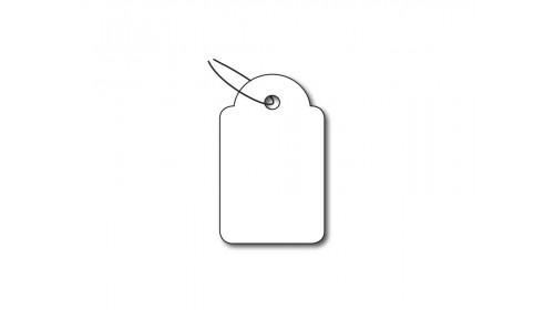 923 Strung Ticket - White Card 18x29mm